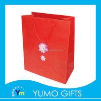promotional decorate design paper bag shopping, elegant gift packing paper bag custom, delicacy design cotton rope hand bag
