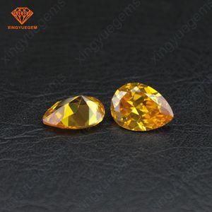 梨カット黄色黄金色大量供給梧州キュービックジルコニア人工石
