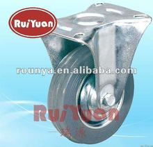 Gray Rubber fixed industrial wheel