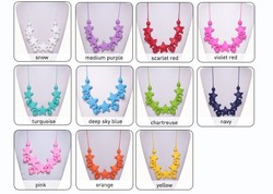 China Supplier BPA Free Food Grade silicone beads jewelry baby teething necklace wholesale