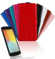 Magnetic Leather Wallet Protective Case Skin Cover For LG Optimus F60