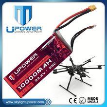 Upower lipo battery 12v 10ah lifepo4 battery for RC drone UAV
