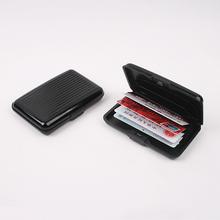 Interwell BXK06 tarjetero monedero, RFID bloqueo de tarjeta de crédito de aluminio
