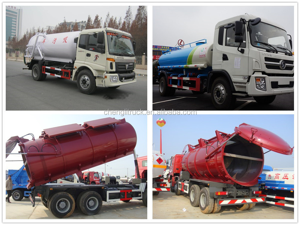 6x4 12m3 High Pressure Used Sewage Suction Truck With