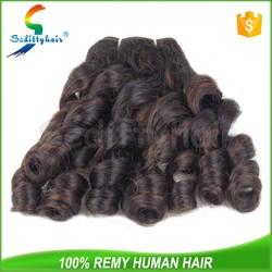 Guangzhou No lice no tangle no shedding virgin russian aunty funmi hair bouncy curls