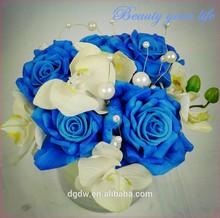 Fabricación de rosa azul de plantas/flor artificial