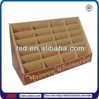 TSD-C754 Custom cardboard display stands for greeting cards,cardboard box tray ,greeting card wholesale display racks