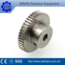 High precision stainless steel helical straight spiral bevel gear