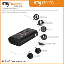 2015 host-selling authentic e-cigarete smy170w tc Temperature Control Box Mods 2015 with VW/ VT mode