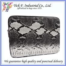 Elegant Snake Pattern PU Leather tablet sleeve / tablet pouch