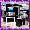 Retail wood retail 3d cosmetic shopping mall kiosk design