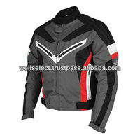 Motorbike Textile Jacket (404) Black / Gray / Red / White