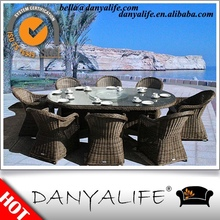 DYDS-D9823 Danyalife Hot Selling Garden Set Plastic Wicker Outdoor Table and Chairs