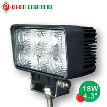 "New Truck Auto Parts 18W Led Work Light,4.3"" Rectangle 18W Led Work Light"