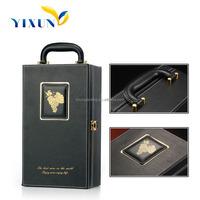 whiskey wine leather liquor case wine carrying case