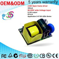 3-5W Internal LED Driver Bulb Light Wide Voltage input LED Corn light power supply Shenzhen Seestar Driver Factory
