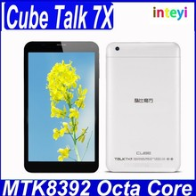 7 inch Cube talk7X MT8392 Octa core 2.0GHz 1GB+8GB Android 1024*600 IPS touch screen dual camera WCDMA GSM tablet PC