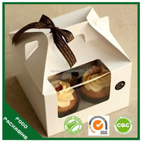 wholesale custom paper package for cupcake