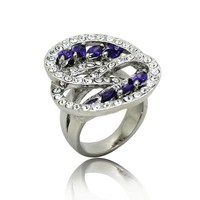 clear czech crystal engagement ring
