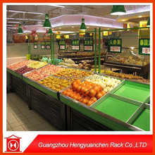 China estante de exhibición de accesorios / frutas vegetales pantalla trasiego