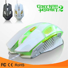 green hornet 2 mouse 4000 DPI 6D buttons optical professional programming wired gaming mouse