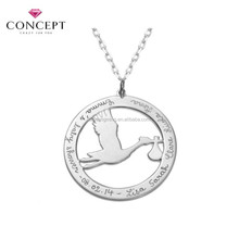 Best Wishes Stainless Steel Pendant for New Born Best Gift for Baby Shower