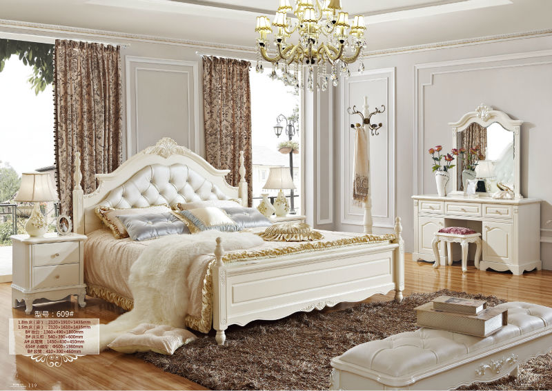 neo classic white bedroom furniture royal european rococo bed set