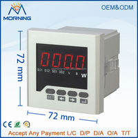 ME-3P61 Panel Size 72*72mm Three Phase LED Display Digital Power Meter, Programmable Current and Voltage Transformation Ratio