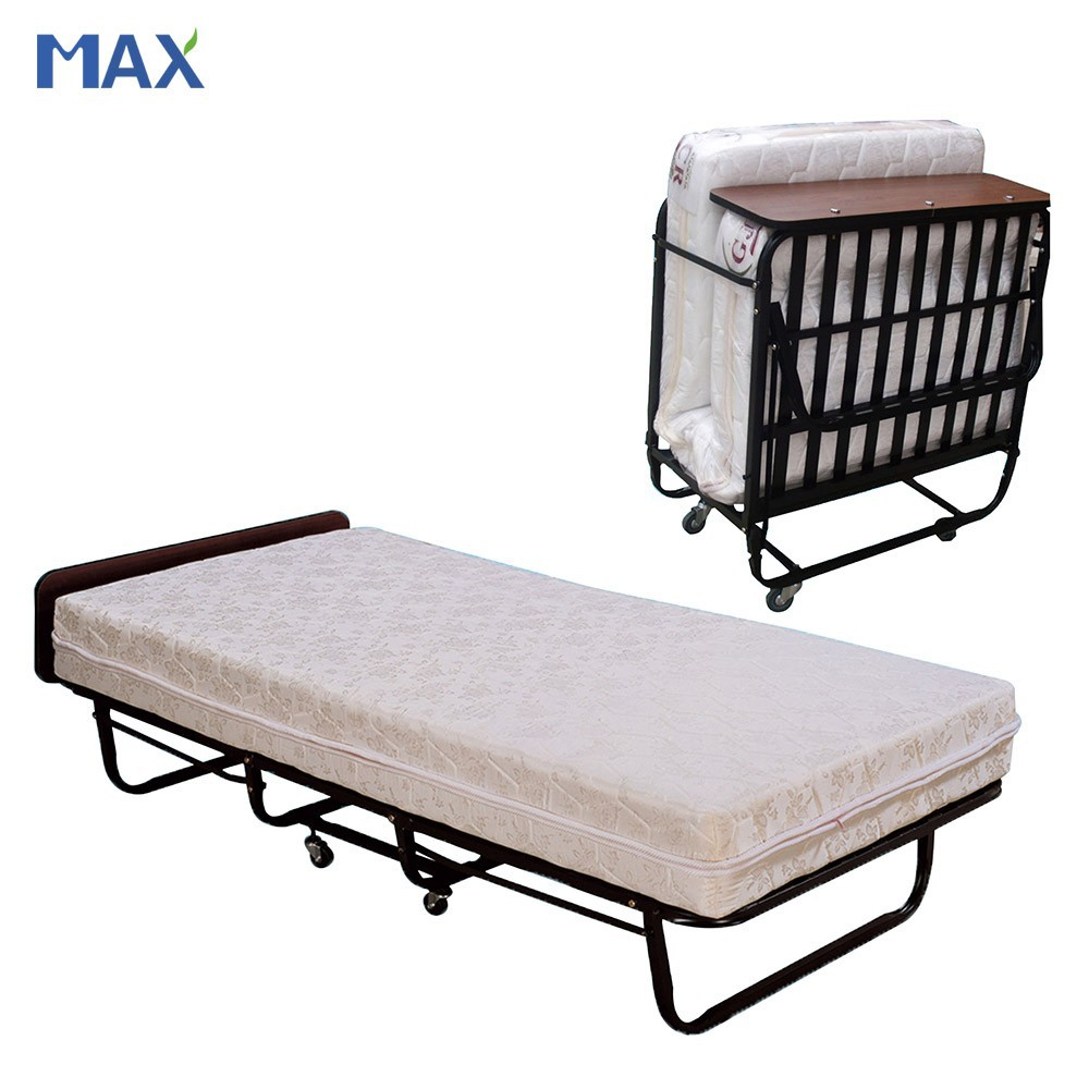 H 003 Hotel Extra Folding Bed cot With Spring Mattress