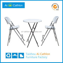 Lawn patio outdoor plastic round bar and pub table