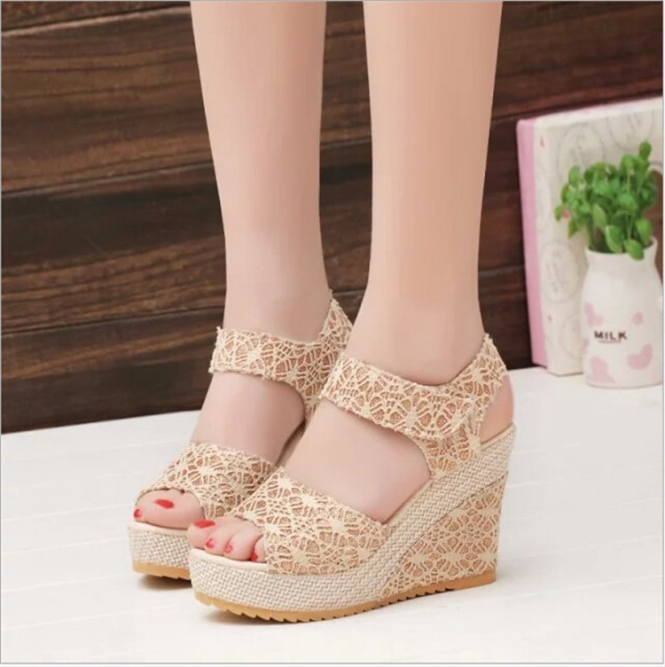 Brilliant 2016 New Women Sandals Slippers Flip Flops Fashion Platform Sandals