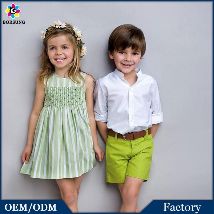 Smocked Bishop Dress,Handmade Smocking Dress,Green Strips Flower Girls Summer Cotton Dress