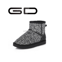 women black snow boots cheap leather shoes for girls glitter shoes