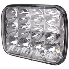 "7x6 square driving lamp 12v led truck head light H4 plug 60w 7"" SAUQRE"