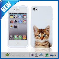 C&T Hot Cat Soft Silicone Rubber Gel Case Cover Skin for iPhone 4/4S