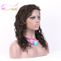 Angelbella Fast Shipment 100% Natural Body Wave New Style Crochet Braids With Human Hair Wig