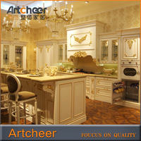 CHINA Fully customized traditional painted kitchen design, oak wood kitchen cabinets , country style