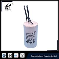 white plastic round case cbb60 model capacitor