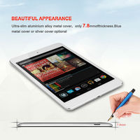 GSM Phone Call Tablet PC 7.85Inch Mini Laptop With 1024*768 IPS Panel MTK 6589 Quard Core1G 8G 3G GPS Bluetooth