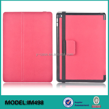 New design shockproof PC leather clutch case with handstrap for iPad Mini 4 tablet