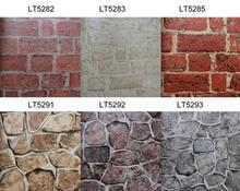 Howoo stone effect wall decorating brick wallpaper samples