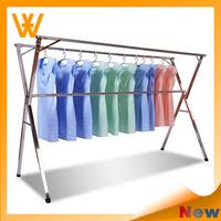 low price adjustable telescopic clothes rack