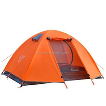 High Quality 2 person Aluminum Frame Yellow Camping Tent