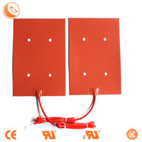 silicone rubber electric car preheater ,heating pad ,engine heater with four holes installation