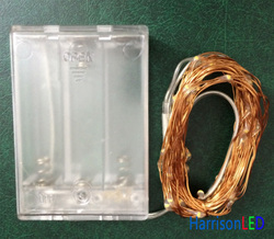 battery operated invisible holiday time brown copper wire starry copper string led lights