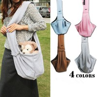 Factory wholesale price popular unique design high quality cotton pet carrier bags for dog/cat