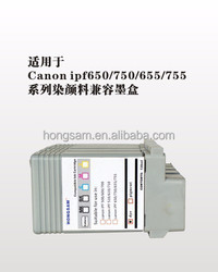 Compatible pigment & dye ink cartridge/refill cartridge for CANON iPF650/750/655/755 5-color printer