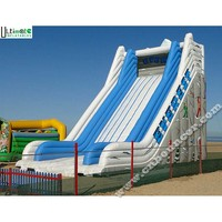 9 meters high Everest giant inflatable slide made of 0.55mm pvc tarpaulin from China factory