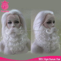High quality undetectable yak hair santa claus wig, beard and moustache for Christmas performance