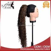 Excellent quality kanekalon synthetic claw ponytail hair extension, afro textured hair extensions